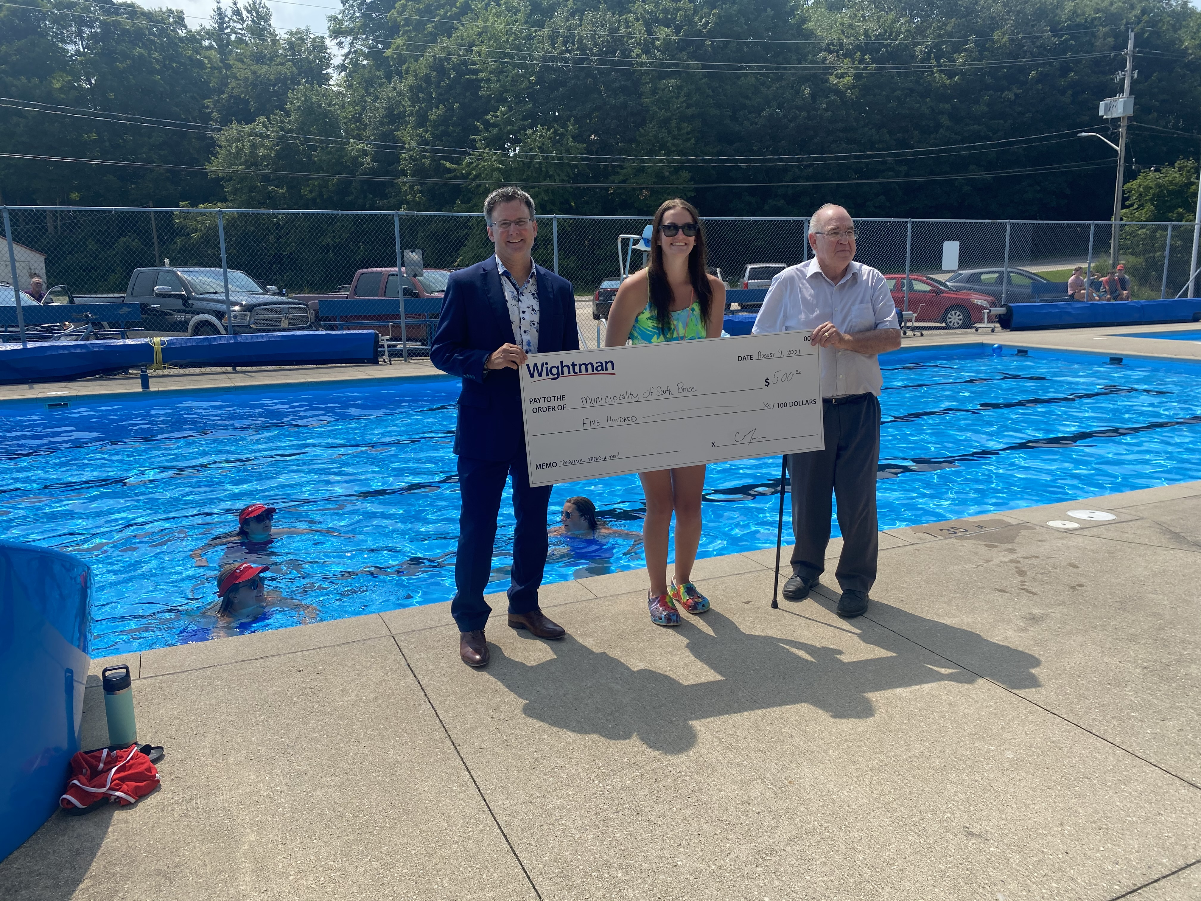 Wightman Telecom Donation Cheque to Teeswater Carrick Pool