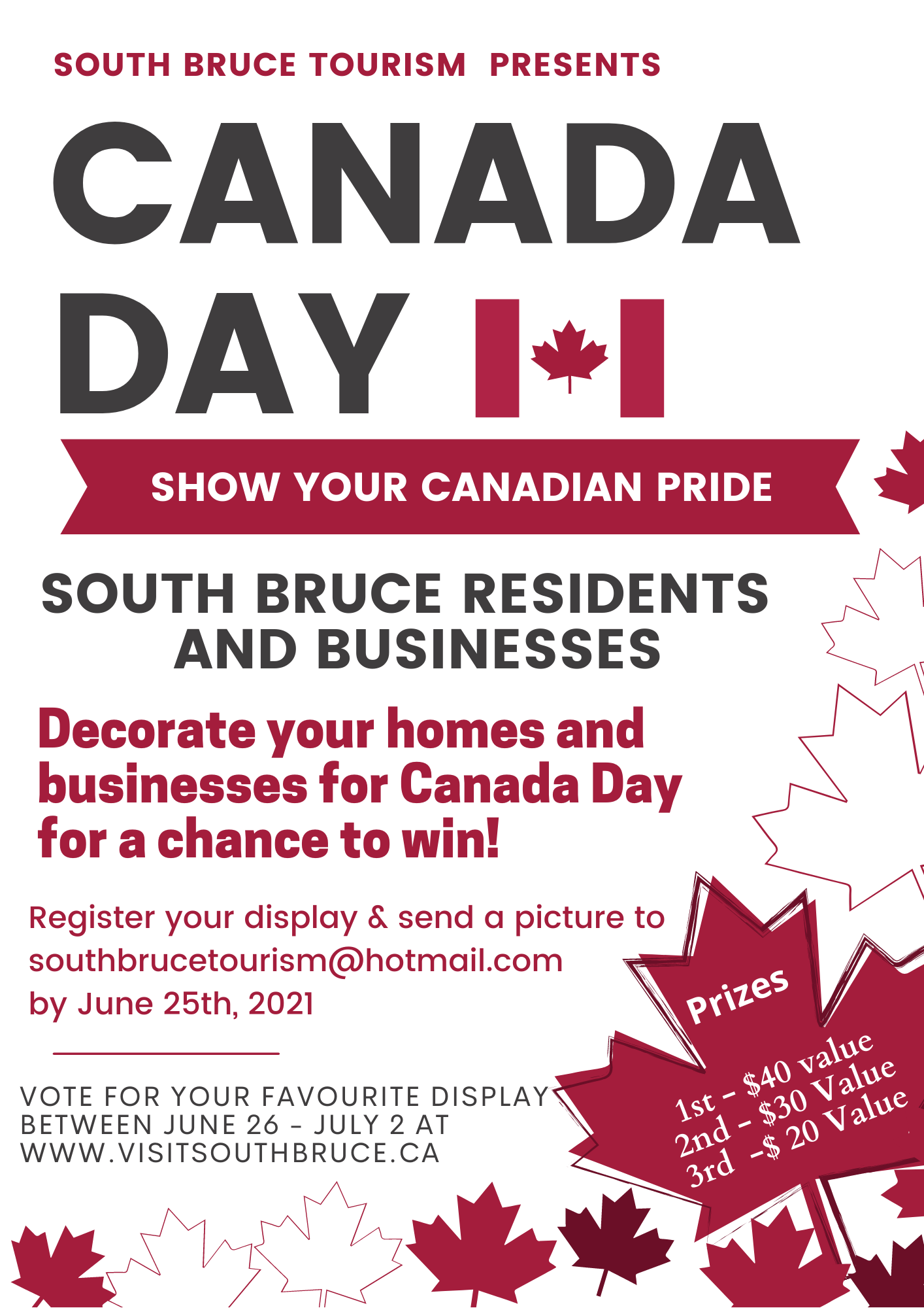 Show your Canadian Pride Contest